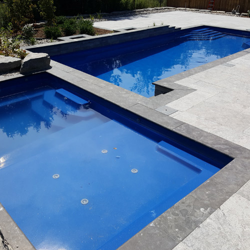 Connection Series Fiberglass Pool and Spa Combo