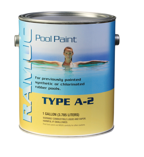RAMUC A2 Pool Paint covers chlorinated rubber
