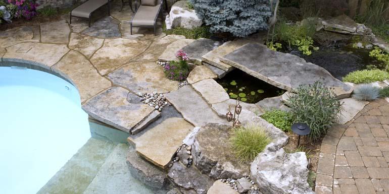 Poolscape-faux river