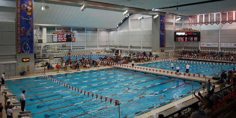 U. of Texas swim meet fans