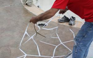 pulling stencil