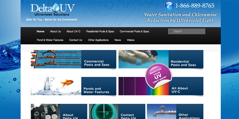 DeltaUV relaunches its residential website