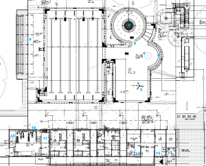 Strathroy site plan with location numbers