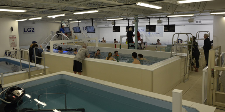 Liquid Gym is a one-of-a-kind hydrotherapy and hydro-training facility in Ottawa, and is the brainchild of Karen Snyder and Irene Hammerich. Photo courtesy McKie Pools and Spas and Liquid Gym