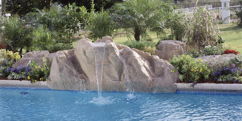Artificial rock features can be added to new or existing pools and can be used on various pool types (e.g. fibreglass, vinyl liner, and gunite).