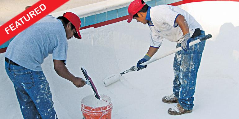 Roll On Pool Plaster Diy Sider Crete Inc: Roll-On Cement Pool Plaster