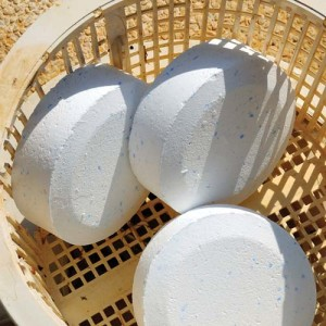 Pool chlorine tablets in basket Costa del Sol Andalucia Spain Western Europe.
