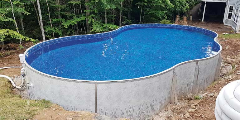 Installing A Semi Inground Pool To Create A Natural Backyard Oasis