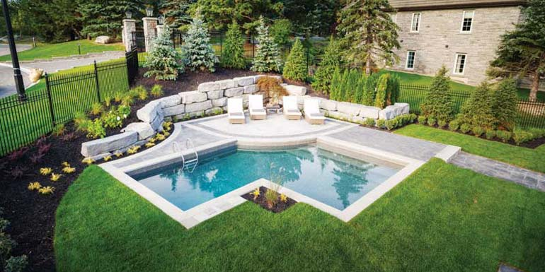 Small custom pool installation fits the bill pool spa for Installing pool liner in cold weather