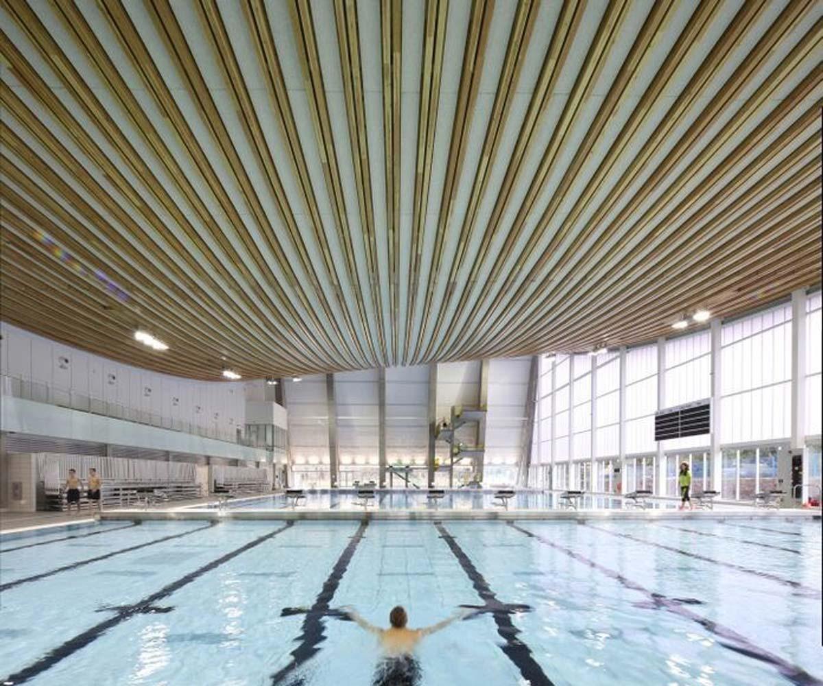 Aquatic Centre In B C Recognized For Leadership In Wood Design Pool Spa Marketing