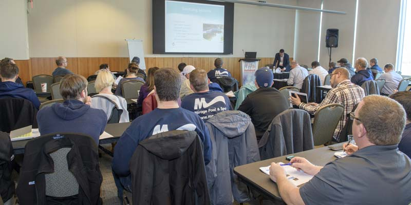 Attendees at an educational course at the Canadian Pool & Spa Conference & Expo