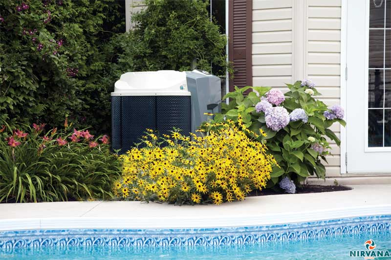 A heat pump should be installed as far away as possible from walls and fences