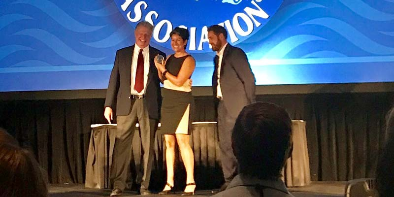 WhiteWater executive, Franceen Gonzales, was inducted into the World Waterpark Association (WWA) hall of fame
