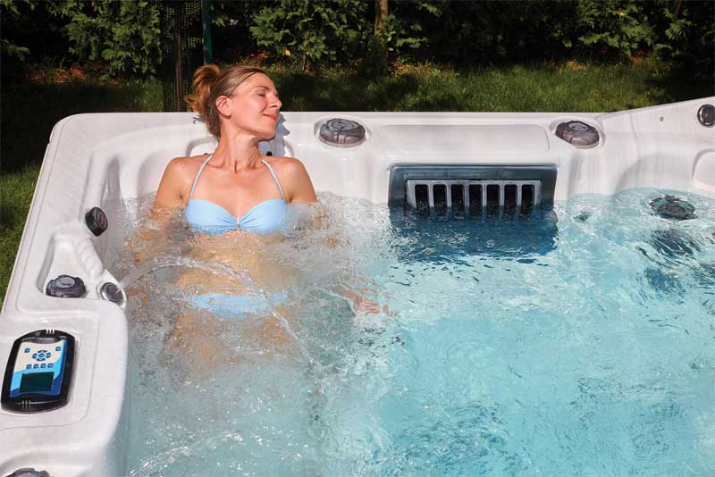Visualizations (such as relaxing in a hot tub) can help one keep his/her cool
