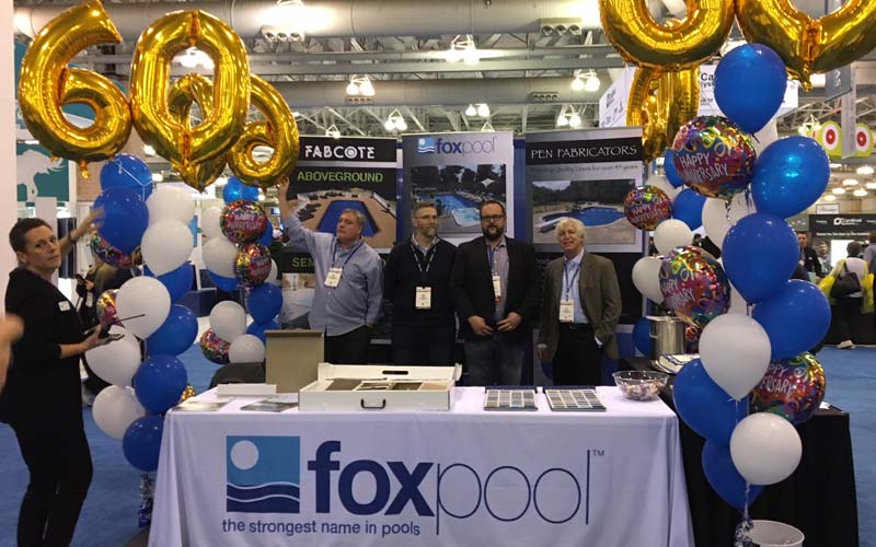 Fox pool corporation celebrates 60 years in business for Pool and spa show atlantic city nj