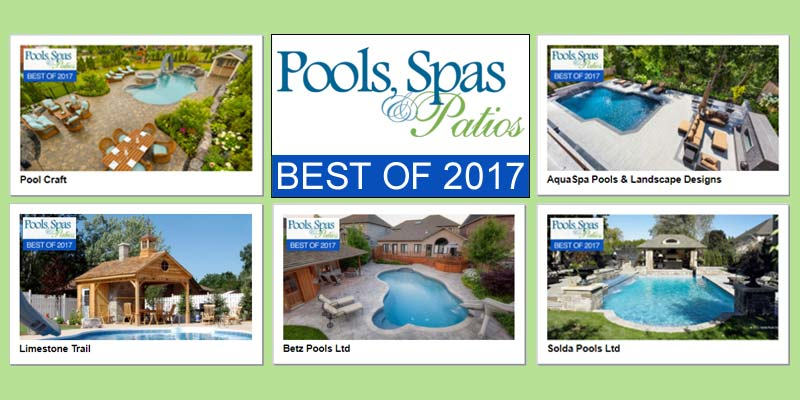Pools, Spas & Patios awards the top 10 backyard Lookbooks