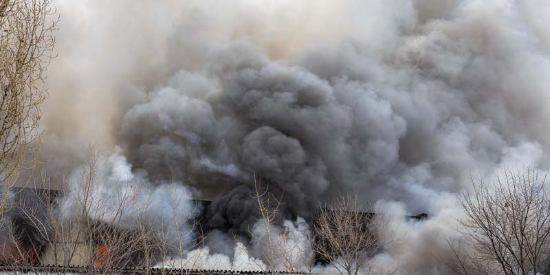 Vinyl Works Canada's Port Colborne, Ont., warehouse destroyed by fire.