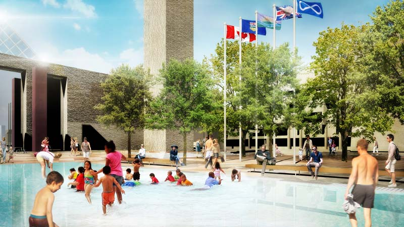 Proposed design of Edmonton's Sir Winston Churchill Square wading pool.