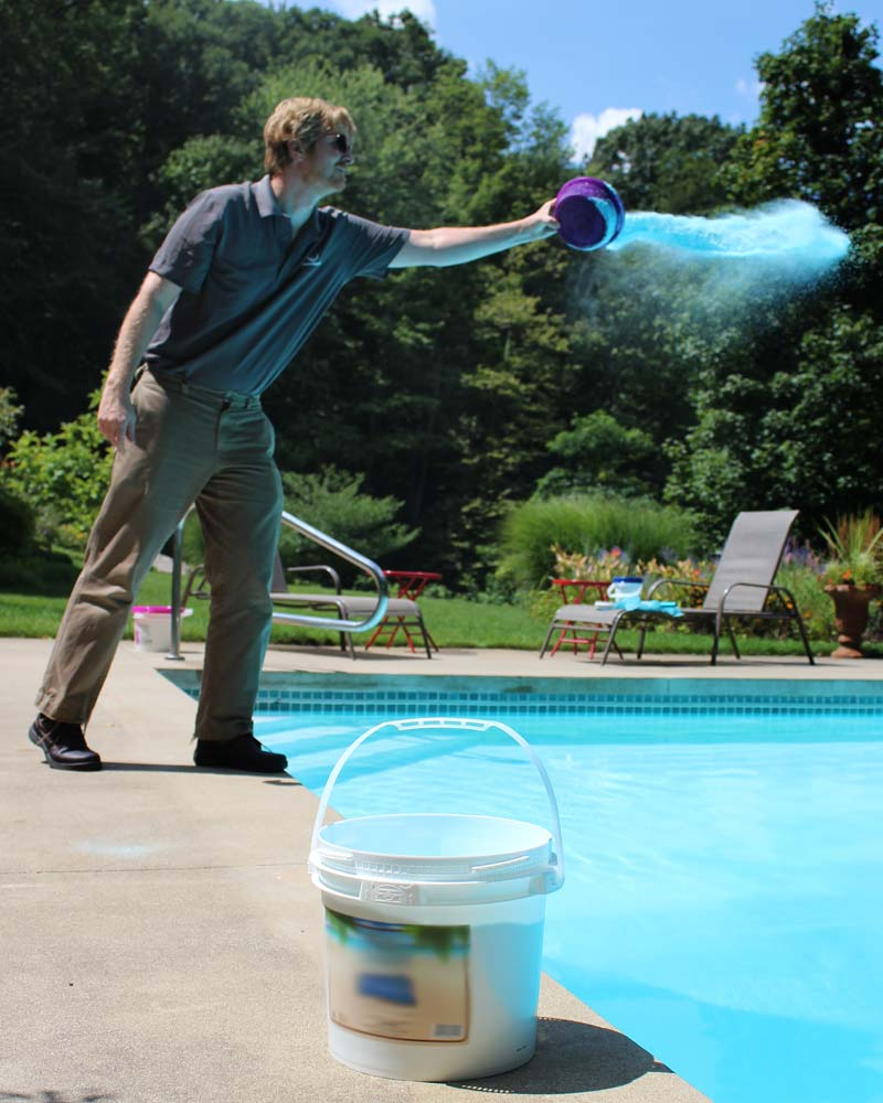 Borate products are available in powders and slurries and should be added directly to the pool.