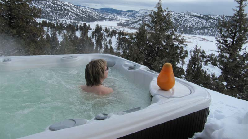 Even in the cold, hot tub water chemistry should be kept at the same general levels as any other season.