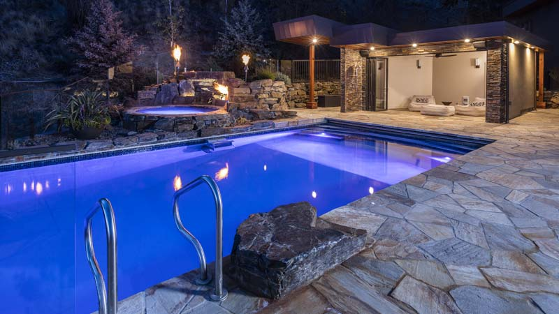 Concrete pool installation
