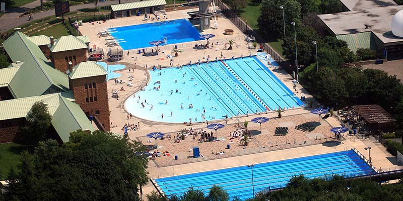 Now that the major excavation work conducted alongside the pools at Montreal's Parc Jean-Drapeau, the aquatic complex is set to reopen in May.