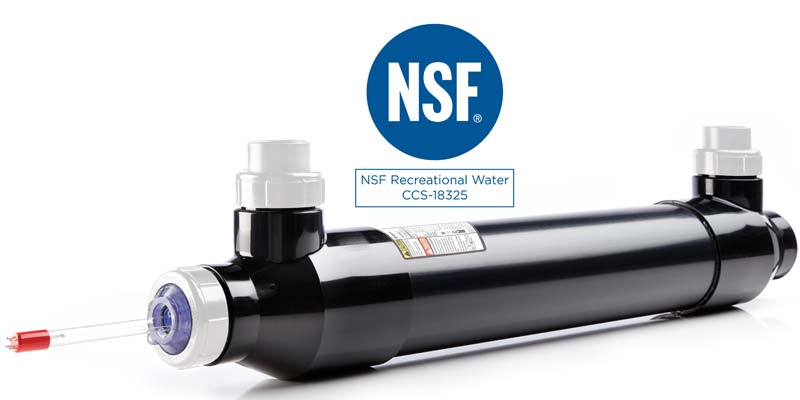 Pentair has received NSF International certification on its BioShield UV ultraviolet light disinfection system as a water-conditioning device suitable for chloramine reduction in most commercial pool applications.