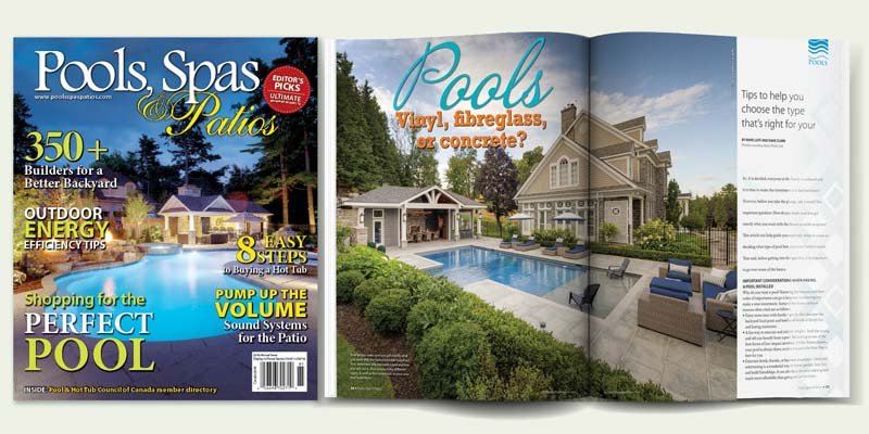 The 2018 annual issue of Pools, Spas & Patios will be available at several major newsstand outlets on May 28.