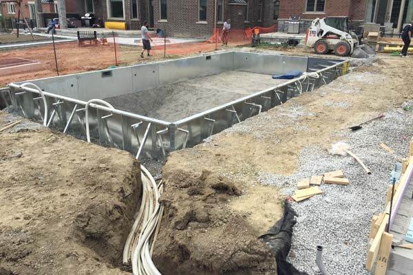 Building a Pool as Part of a Feature Backyard Project