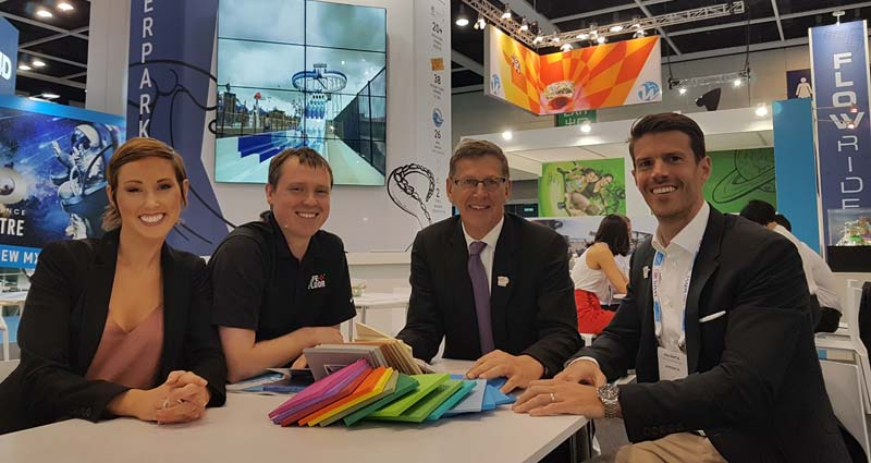 WhiteWater and Life Floor announced the distribution agreement at this year's Asian Attractions Expo in Hong Kong.