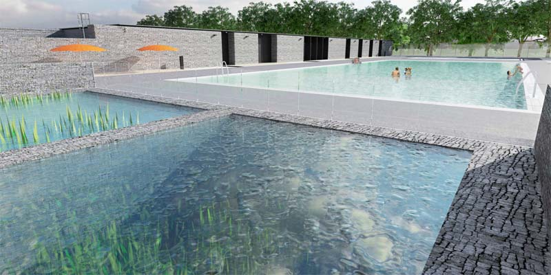 Canada S First Public Natural Swimming Pool To Open In Edmonton Pool Spa Marketing