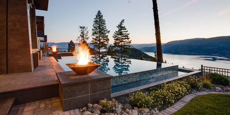 Valley Pool & Spa Inc., Kelowna, B.C., received a gold award in the outdoor concrete pool 42-65 m2 (450-700 sf) with water features category in the Pool & Hot Tub Council of Canada's (PHTCC's) 2017 Design & Construction Awards competition.