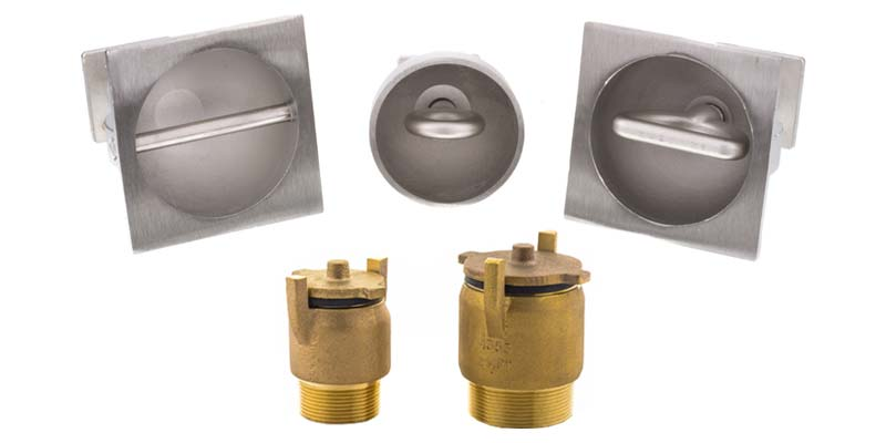Customers of Standard Bronze can now explore an expanded product line (e.g. new brushed stainless steel rope anchors [top] and hydrostatic relief valves[bottom]), as well as place orders online with ease and efficiency using the company's new website.