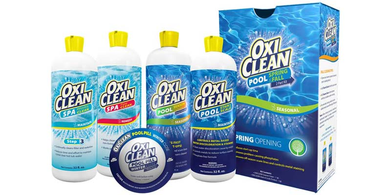 OxiClean's pool and spa line will include six new products.