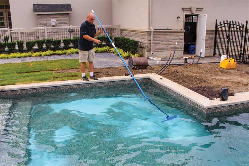 Salt is the first thing that is needed to produce chlorine in a saltwater pool.