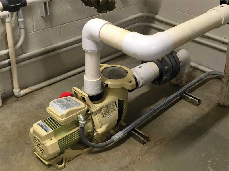 The best way to avoid a failure caused by improper pump sizing is to install a variable frequency drive (VFD) that is capable of bringing the flowrate up to where it needs to be to prevent the pump from running dry.