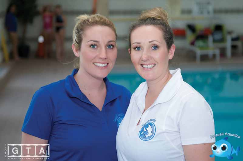 Russell Aquatics was founded by Kerri (right) and Kristi Russell (left) in 2004 as a children's summer backyard swim school in Markham, Ont.