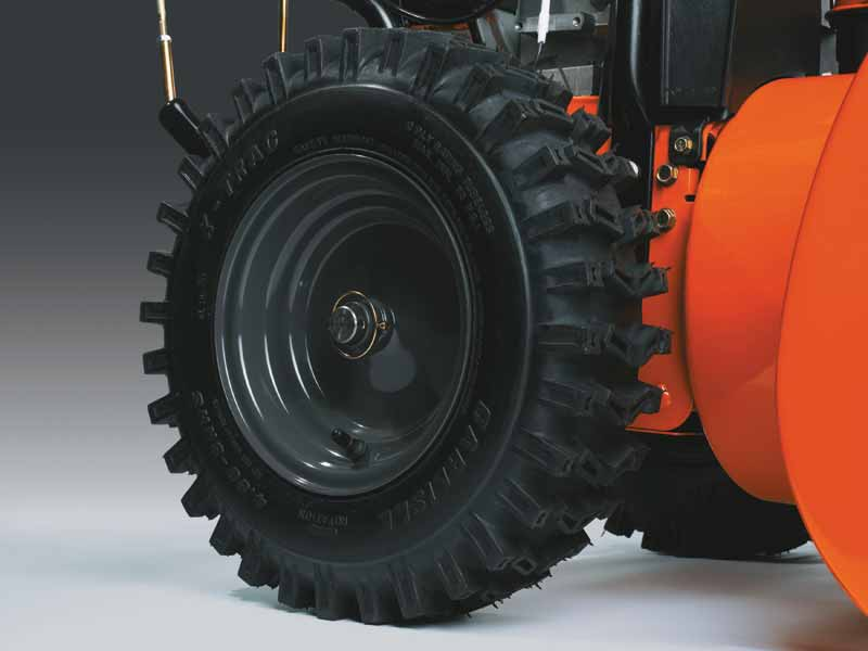 The size of the wheels is also important as they will determine the equipment's grip while working.