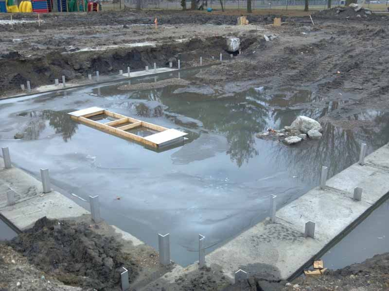 Construction was delayed due to an extended winter and wet spring.