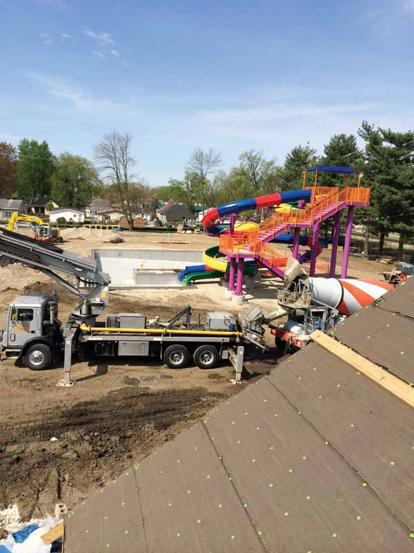 The reconstruction of Rainbow Beach in Vincennes, Ind., was budgeted at $3.4 million; however, $3.8 million was raised for a complete renovation.