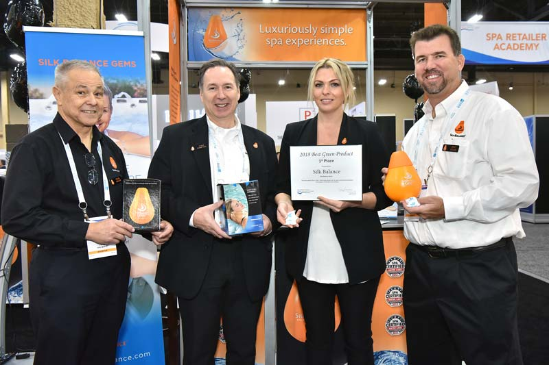 SilkBalance received the Best Green Product award at the 2018 International Pool | Spa | Patio Show.