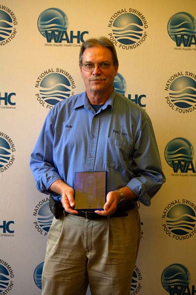 Robert R. Freligh (Nationwide Aquatic Consulting) received a honourary Milestone plaque as one of the top 10 instructors who certified more than 500 students in 2018.