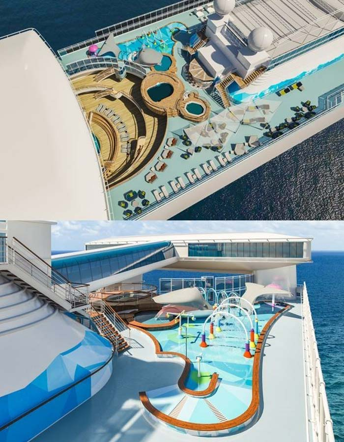 Rendering of The Reef onboard Caribbean Princess, scheduled to debut in June 2019.