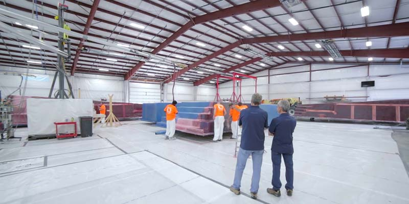 Fibreglass pool manufacturer Thursday Pools has completed the second expansion of its manufacturing facility in Fortville, Ind. By adding another 3763 m2 (40,500 sf) of space, the company now operates a plant that is just over 9290 m2 (100,000 sf).