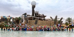 Yas Waterworld Abu Dhabi earned the Guinness World Records title for 'Most Nationalities in a Swimming Pool'.