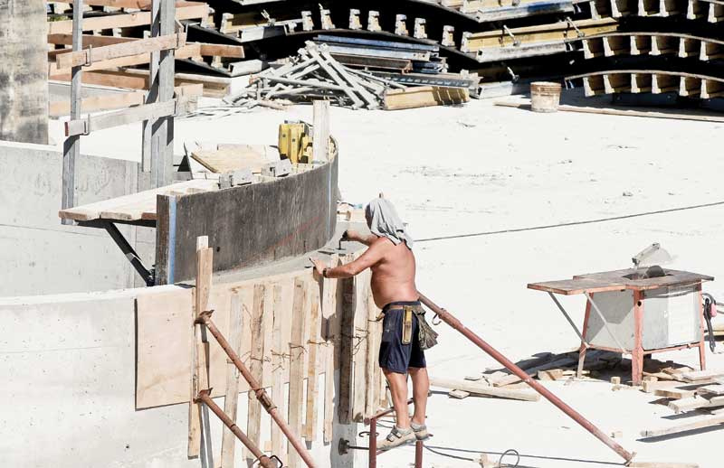 Many pool builders prefer to work shirtless in the hot summer; however, if they do not use sunscreen, this can pose a dangerous health concern.