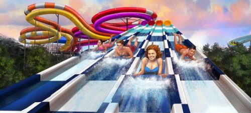 Vancouver-based WhiteWater is designing and manufacturing a new waterslide for Worlds of Fun called Riptide Raceway. It will be second largest waterslide in the U.S.