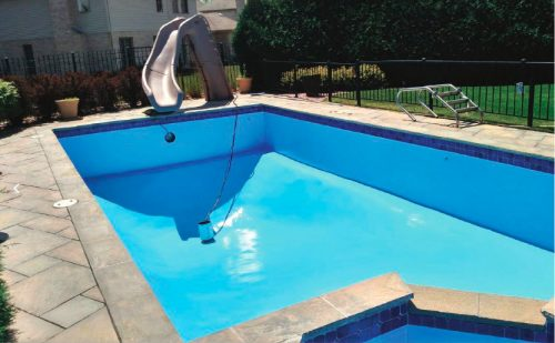 Pool paints are designed to dry and cure within a defined temperature range. The chemicals that make up the paint require the proper temperature to bond together and adhere to the surface.