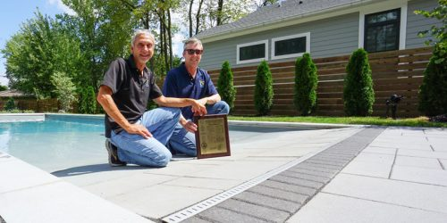 Thursday Pools received its official patent award for its Beach Entry Fiberglass pool.