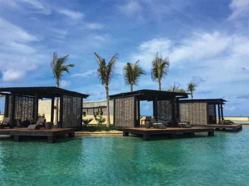 The lagoon pool also offers its guests a lazy river with several infinity pools, and multiple swim-up bars for casual dining.